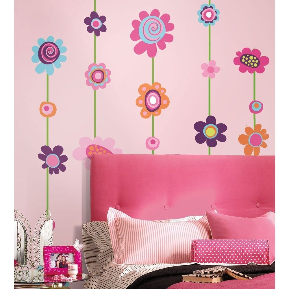 wall flower stickers for girls photo - 3