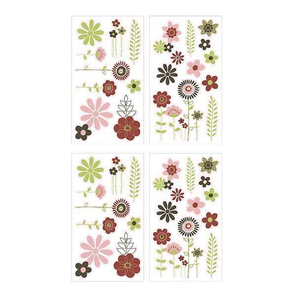 wall flower stickers for girls photo - 7
