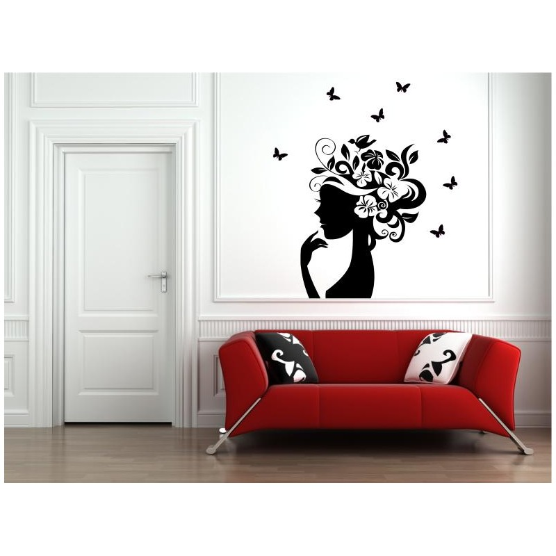 wall flower stickers for girls photo - 8