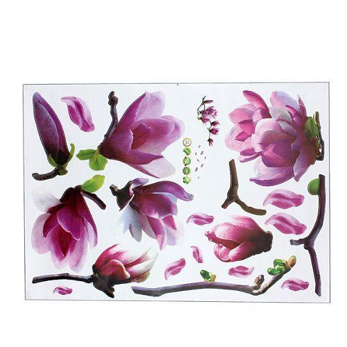 wall flower stickers for girls photo - 9