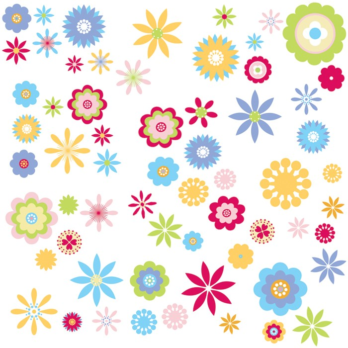 wall flower stickers for kids photo - 1