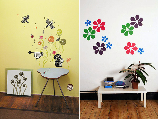 wall flower stickers for kids photo - 10