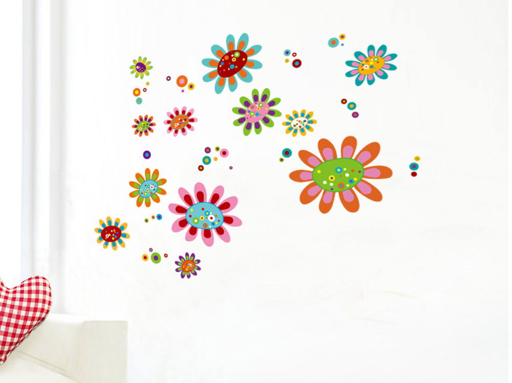 wall flower stickers for kids photo - 5