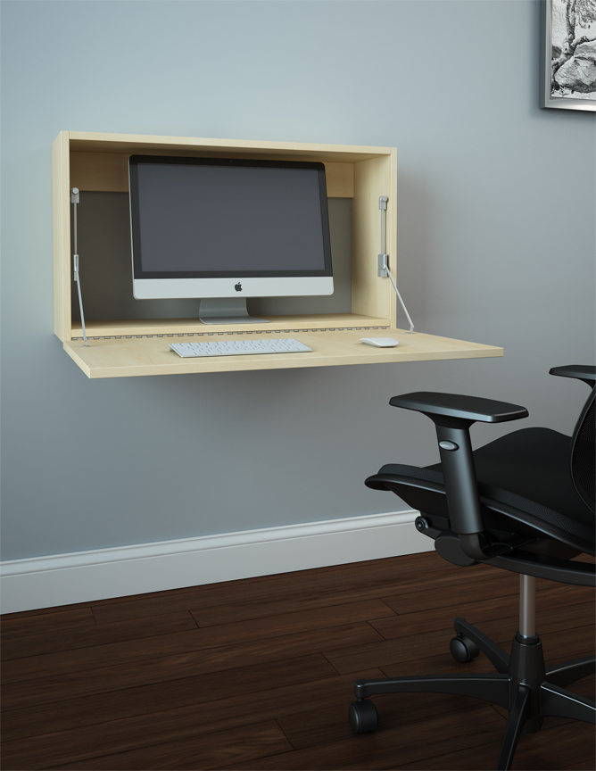 wall mounted desk photo - 3