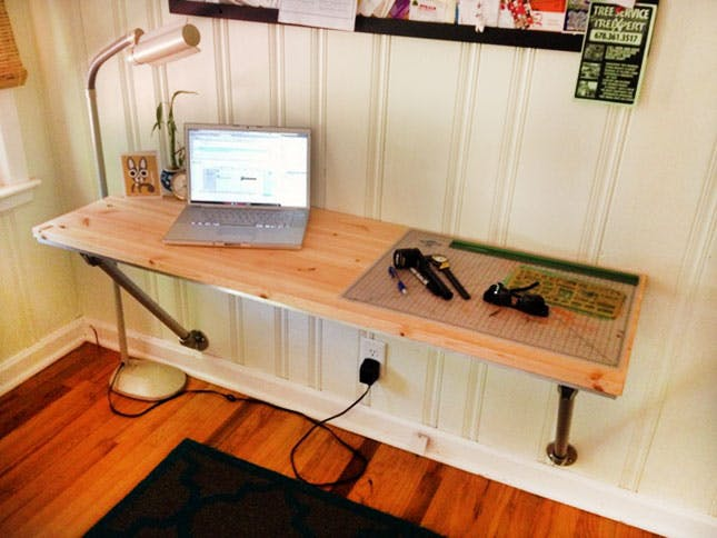 wall mounted desk diy photo - 1
