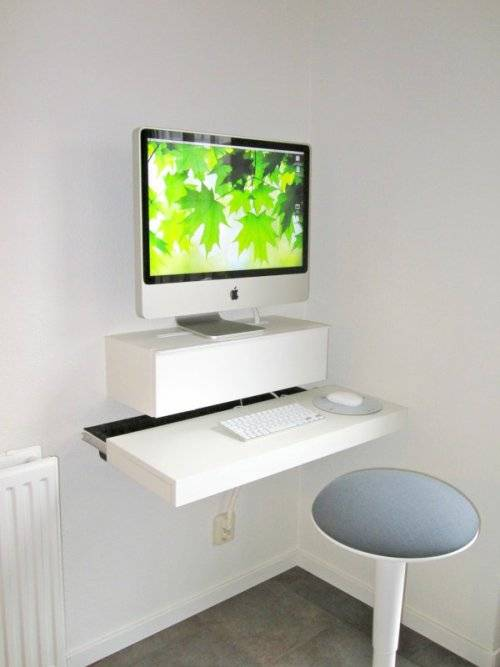 wall mounted desk diy photo - 4