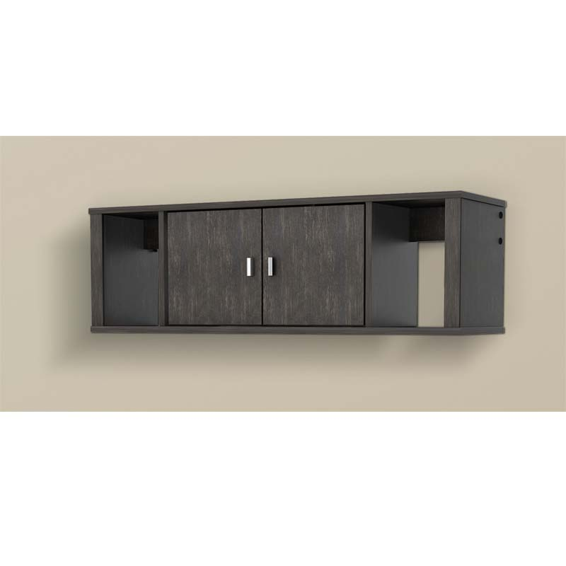 wall mounted desk hutch photo - 4