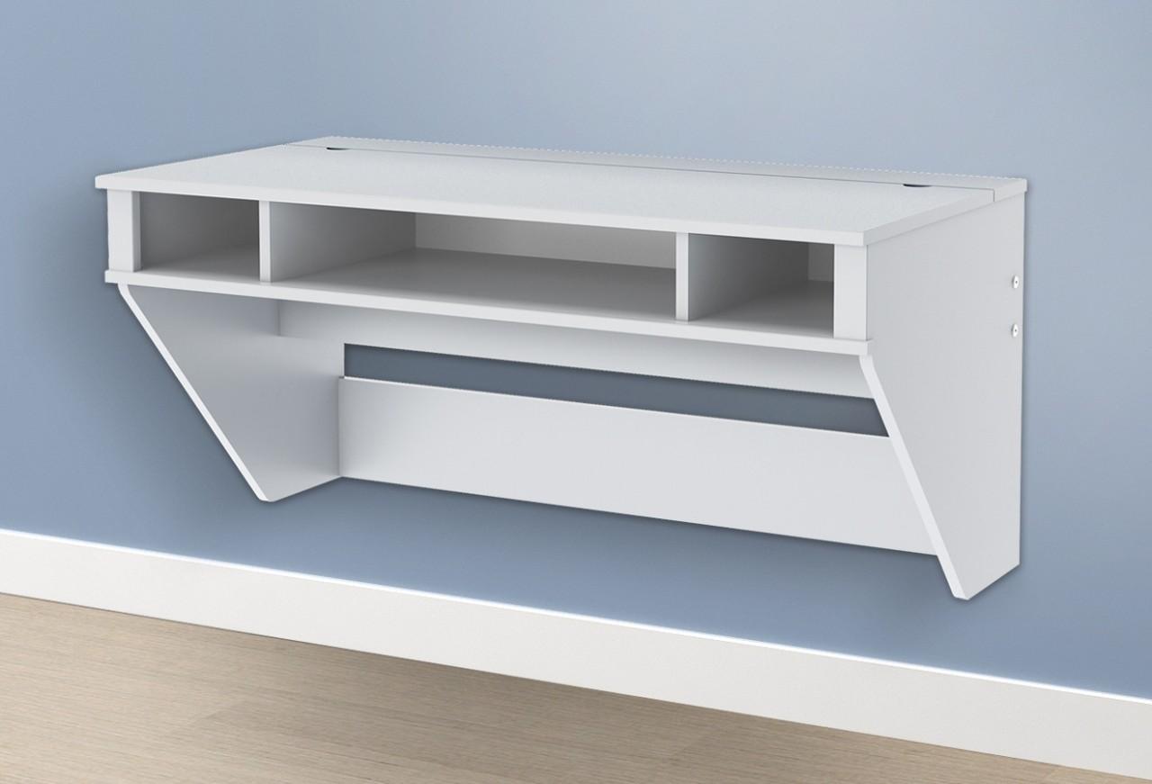 wall mounted desk white photo - 1