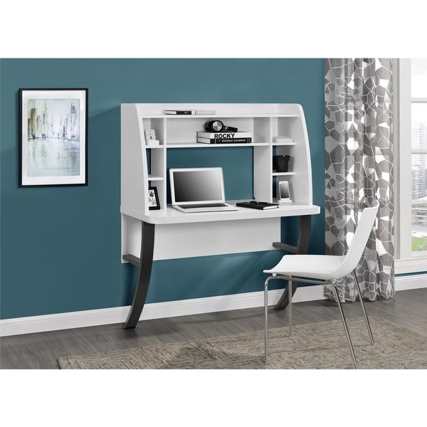 wall mounted desk white photo - 10
