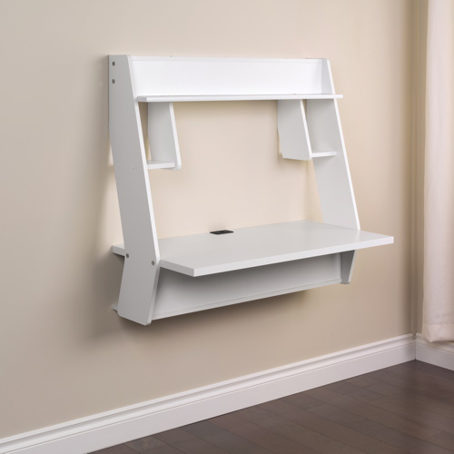 wall mounted desk white photo - 4