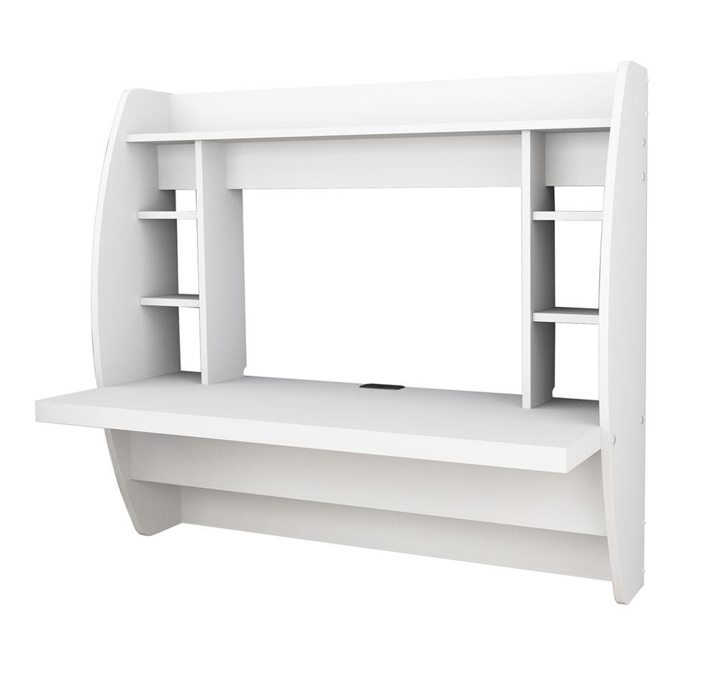 wall mounted desk white photo - 5