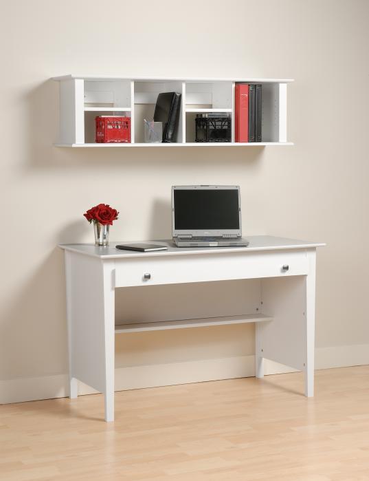 wall mounted desk white photo - 6
