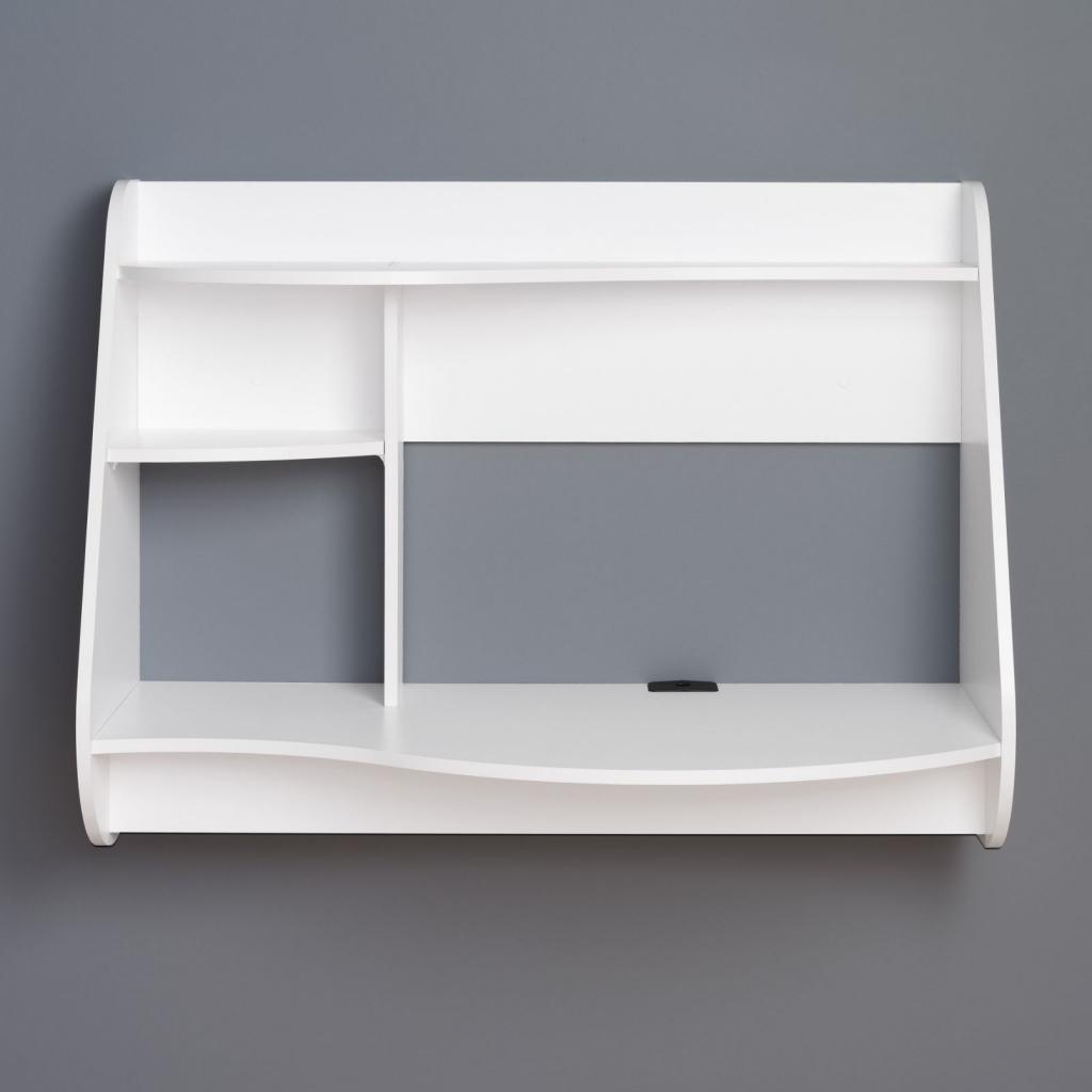 wall mounted desk white photo - 9