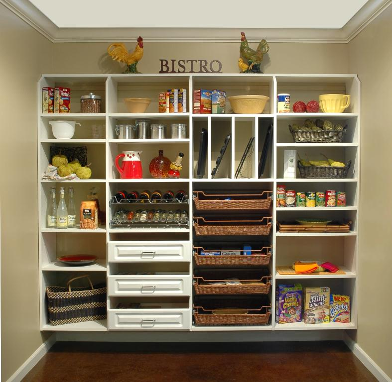 wall mounted pantry shelves photo - 1