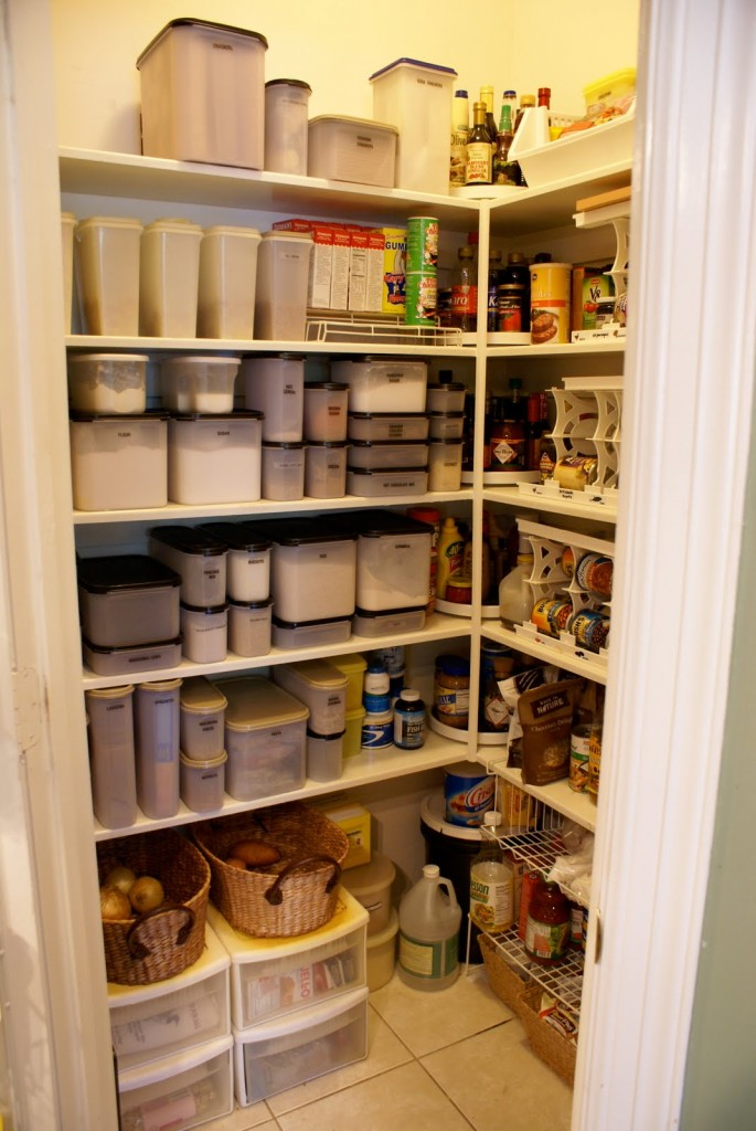 wall mounted pantry shelves photo - 7