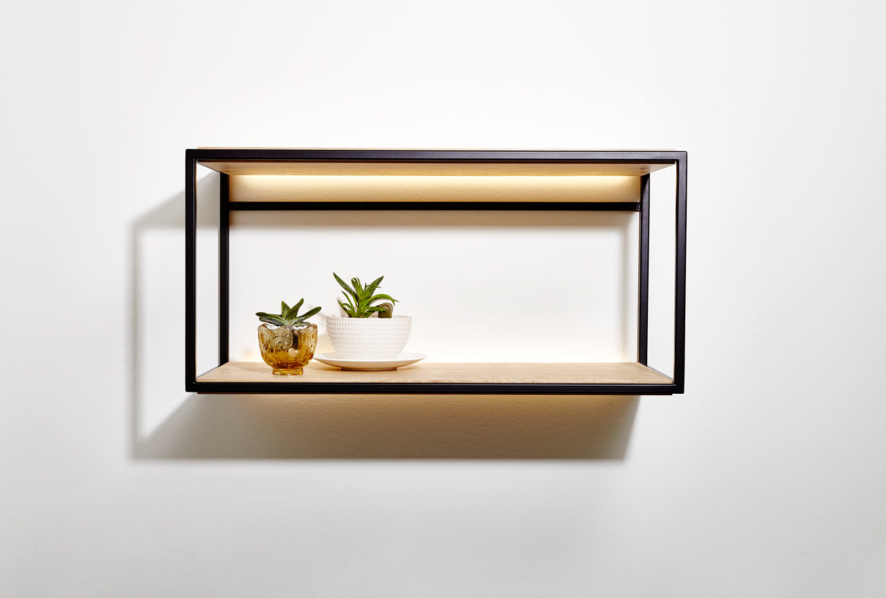 wall mounted picture shelves photo - 8