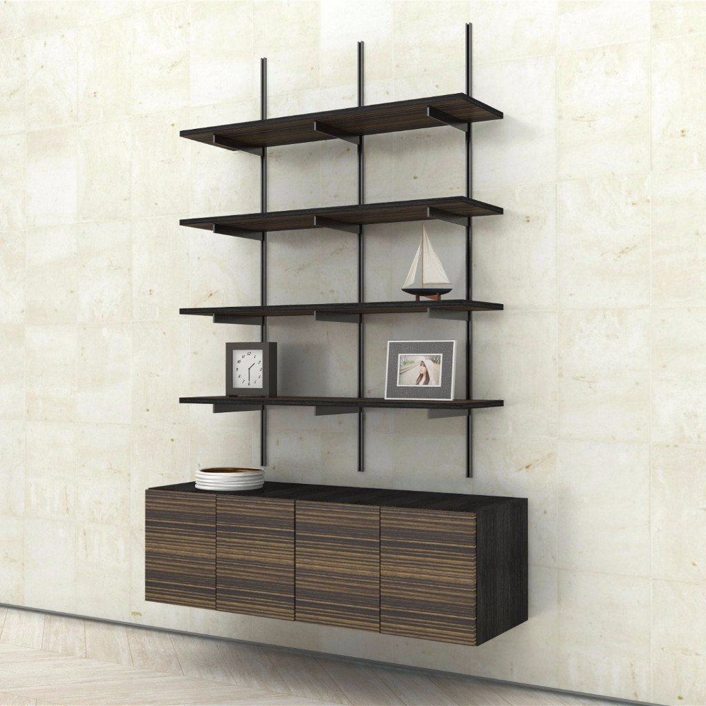 wall mounted picture shelves photo - 9