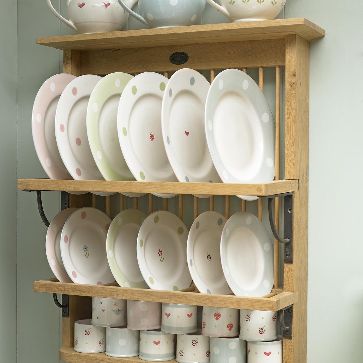 wall mounted plate shelves photo - 10
