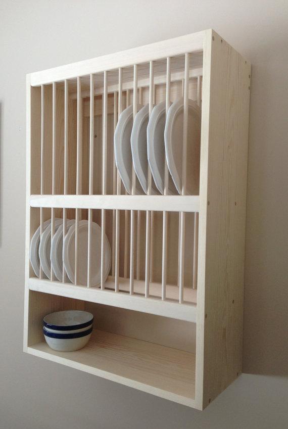 wall mounted plate shelves photo - 3