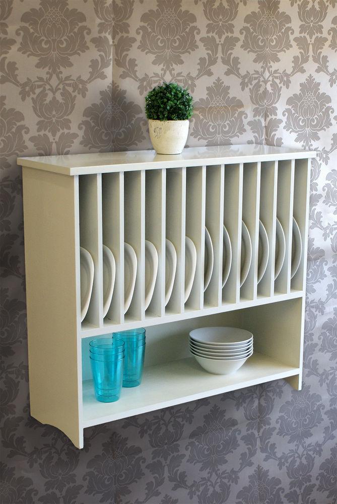 wall mounted plate shelves photo - 5