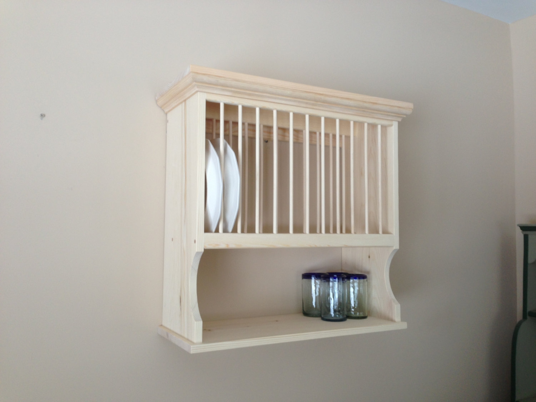 wall mounted plate shelves photo - 6