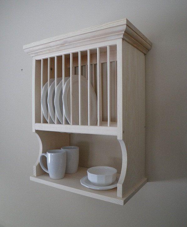 wall mounted plate shelves photo - 9