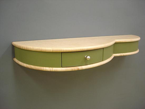 wall mounted shelf table photo - 2
