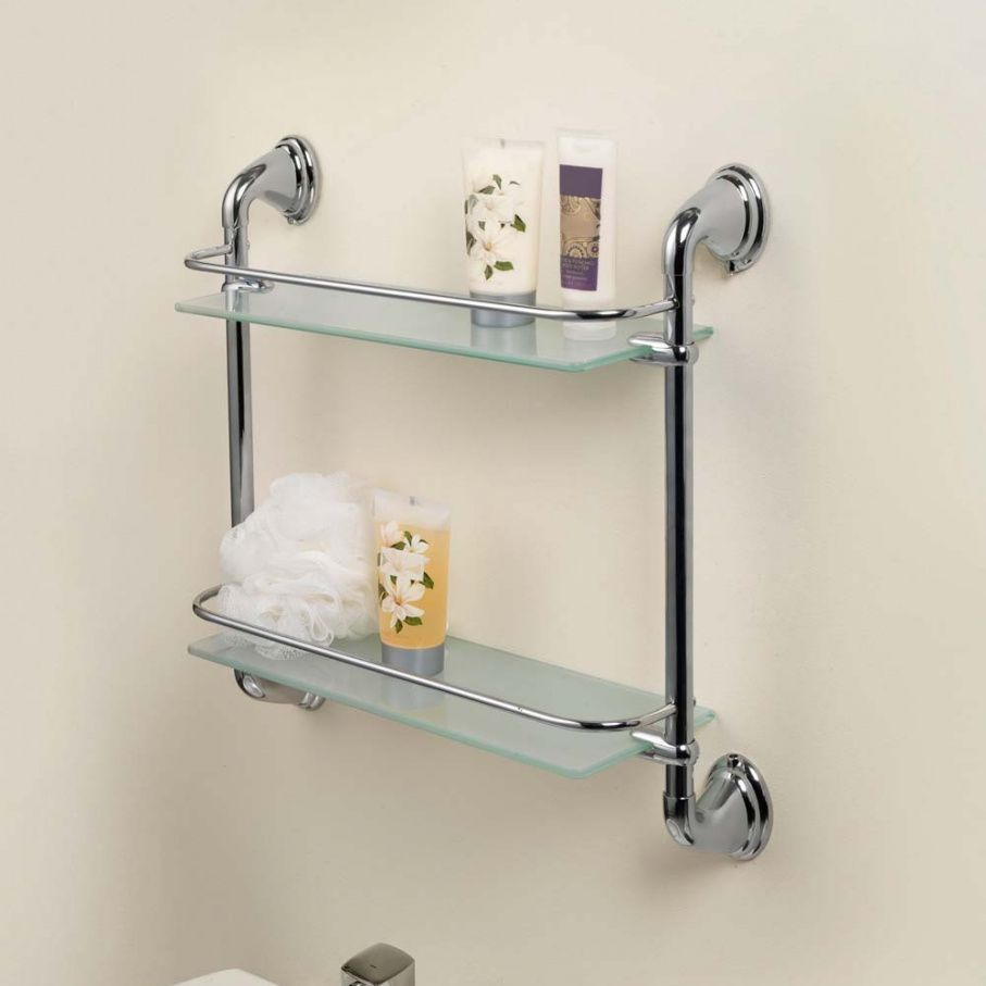 wall mounted shelves bathroom photo - 2