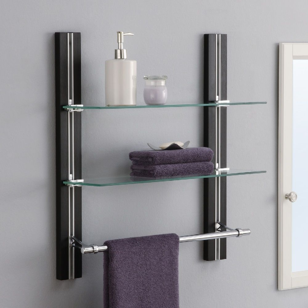 wall mounted shelves bathroom photo - 4