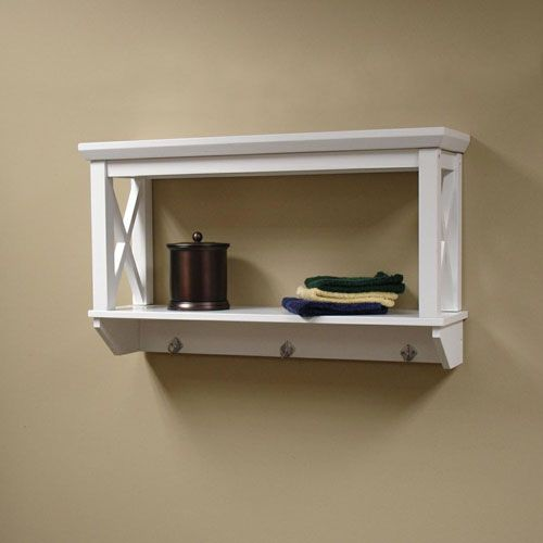 wall mounted shelves bathroom photo - 7