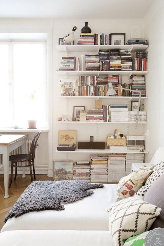 wall mounted shelves bedroom photo - 1