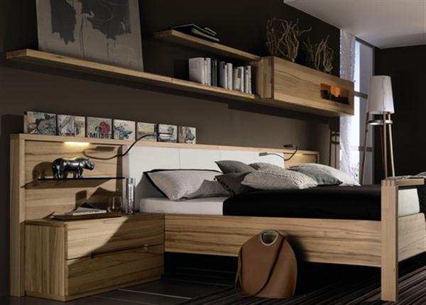 wall mounted shelves bedroom photo - 2