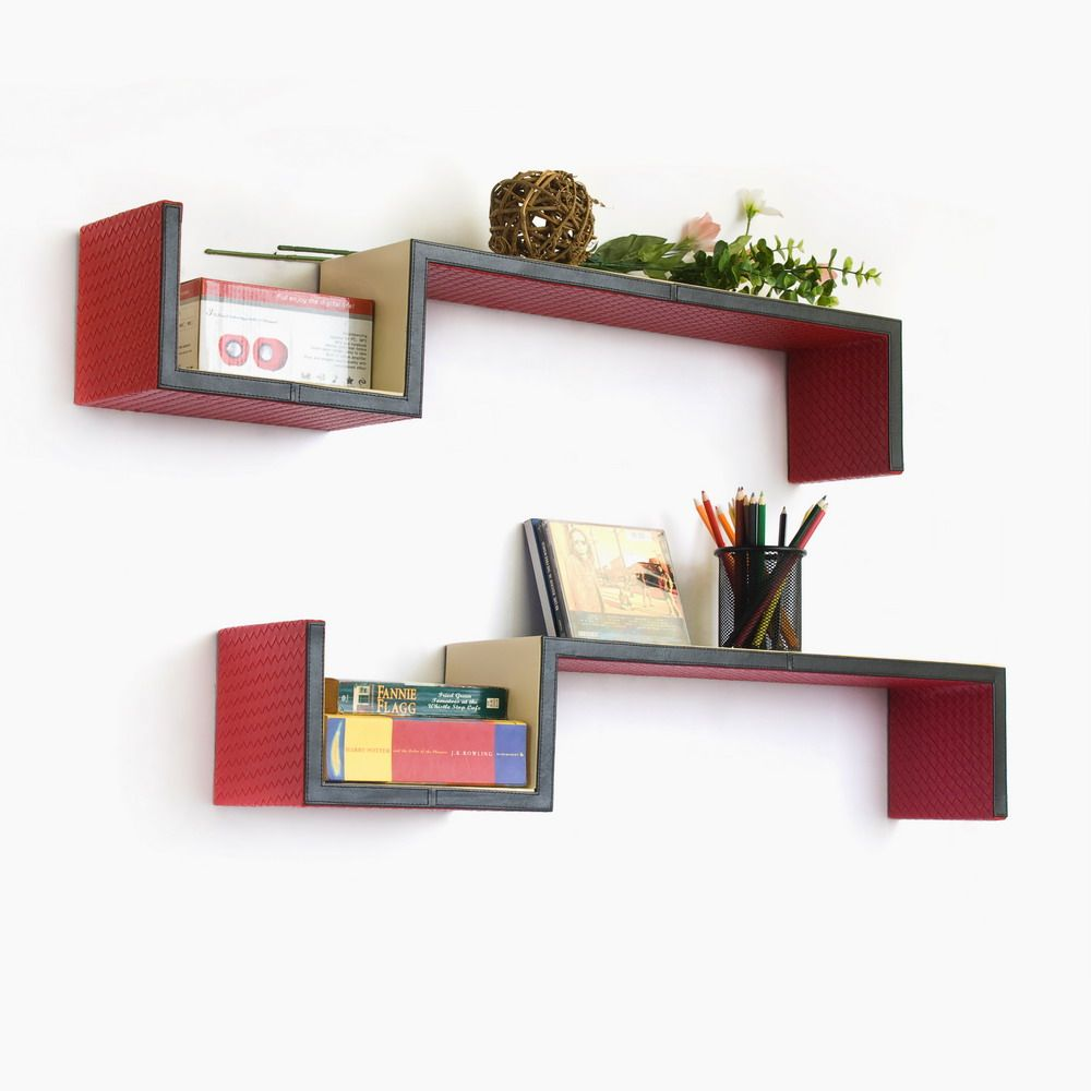 wall mounted shelves bedroom photo - 5