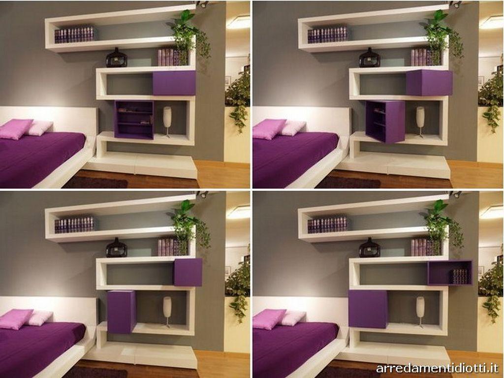 wall mounted shelves bedroom photo - 7