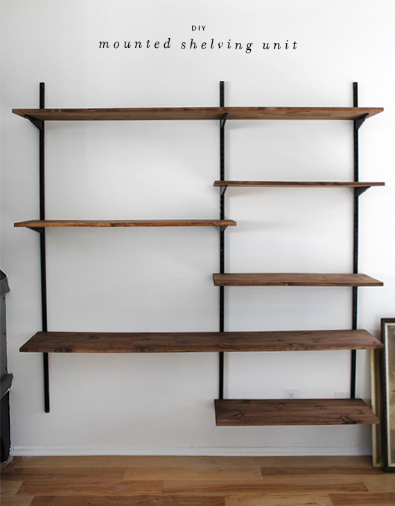 wall mounted shelves diy photo - 1