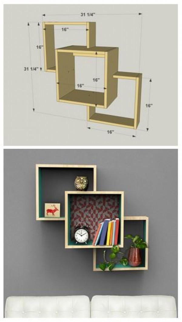 wall mounted shelves diy photo - 8