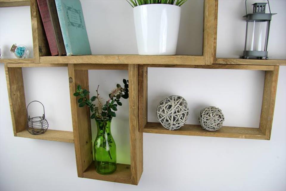 wall mounted shelves diy photo - 9
