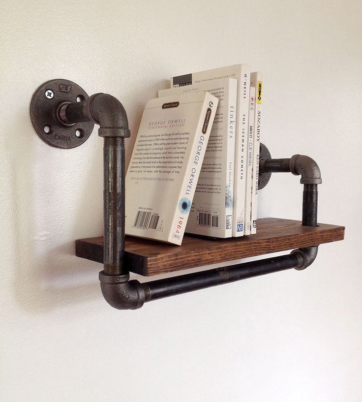 wall mounted shelves for books photo - 2
