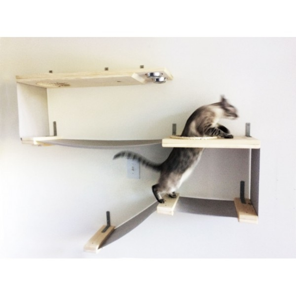 wall mounted shelves for cats photo - 8
