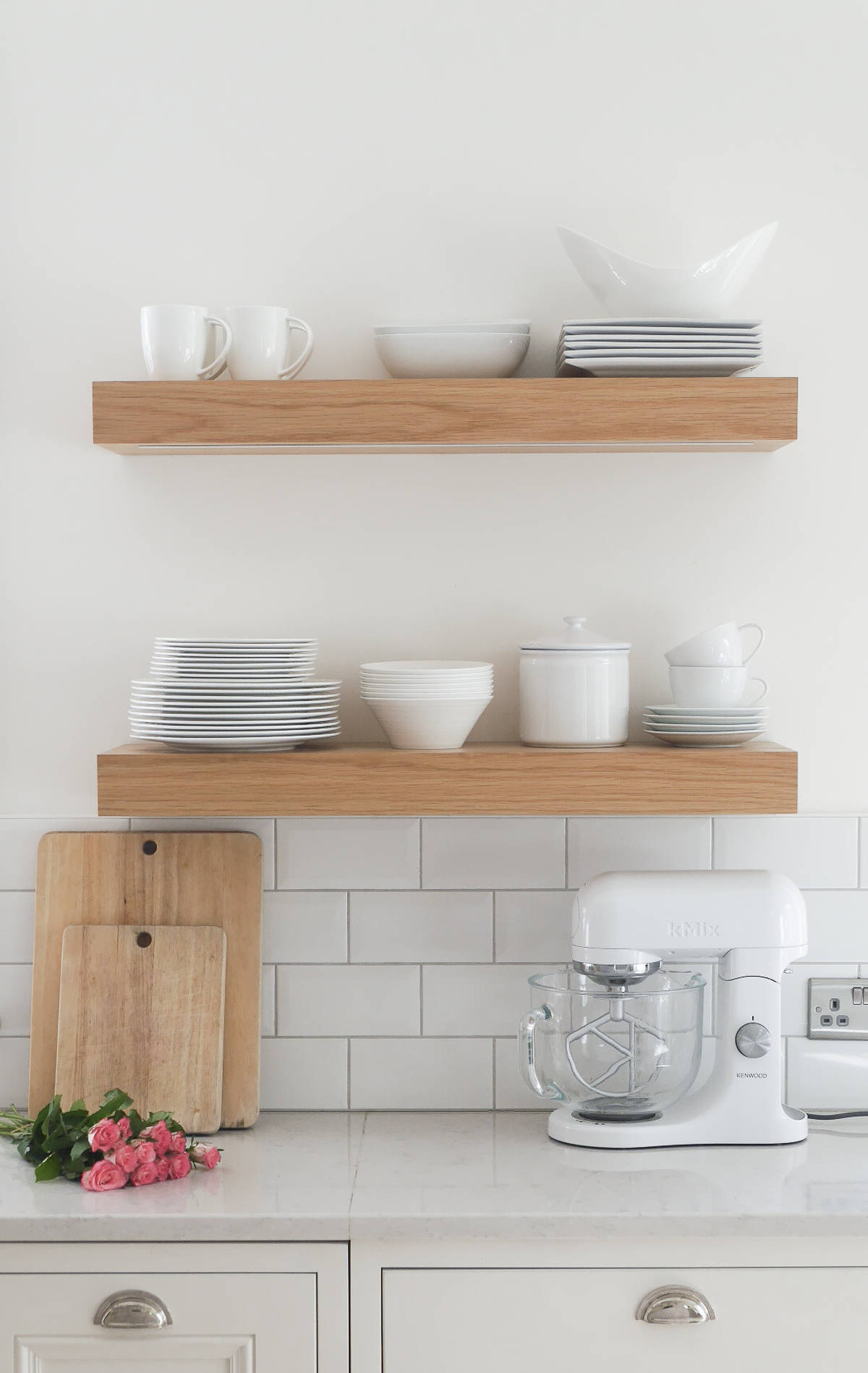 wall mounted shelves for kitchen photo - 2