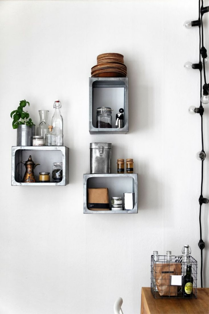 wall mounted shelves for kitchen photo - 5