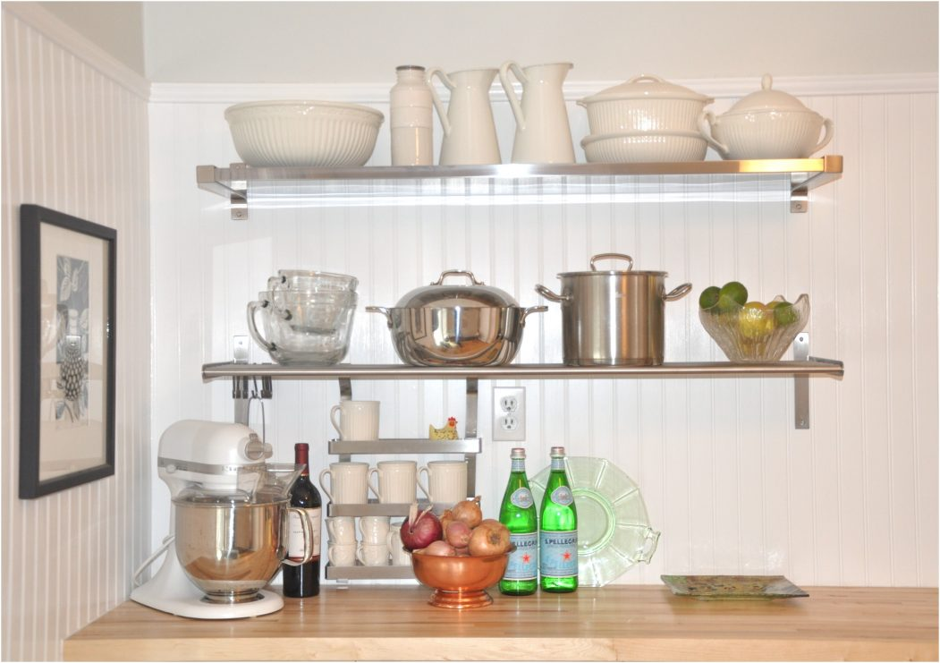 wall mounted shelves for kitchen photo - 9
