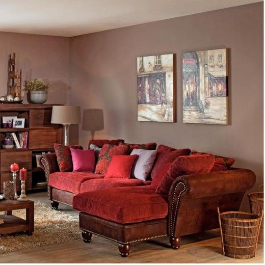 Bon Wall Paint Color For Red Couch