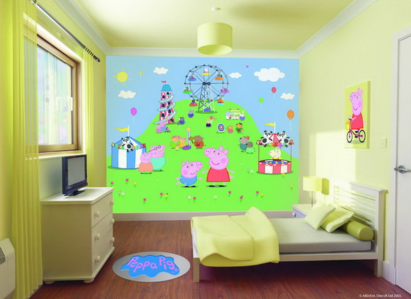 wall paint colors for kids room photo - 1