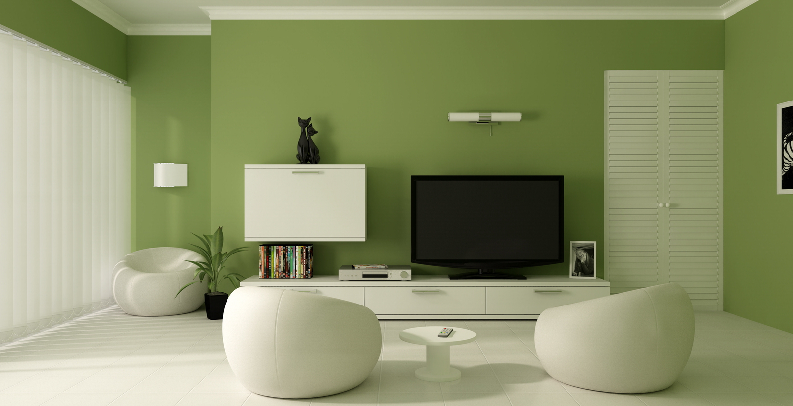 wall paint colors green photo - 4