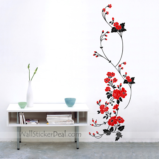 wall stickers flowers photo - 5
