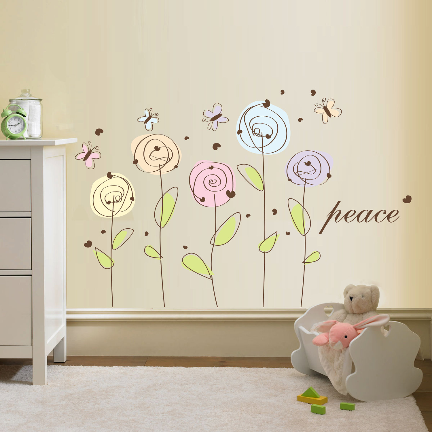 wall stickers flowers photo - 6