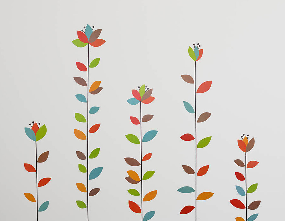 wall stickers flowers photo - 7