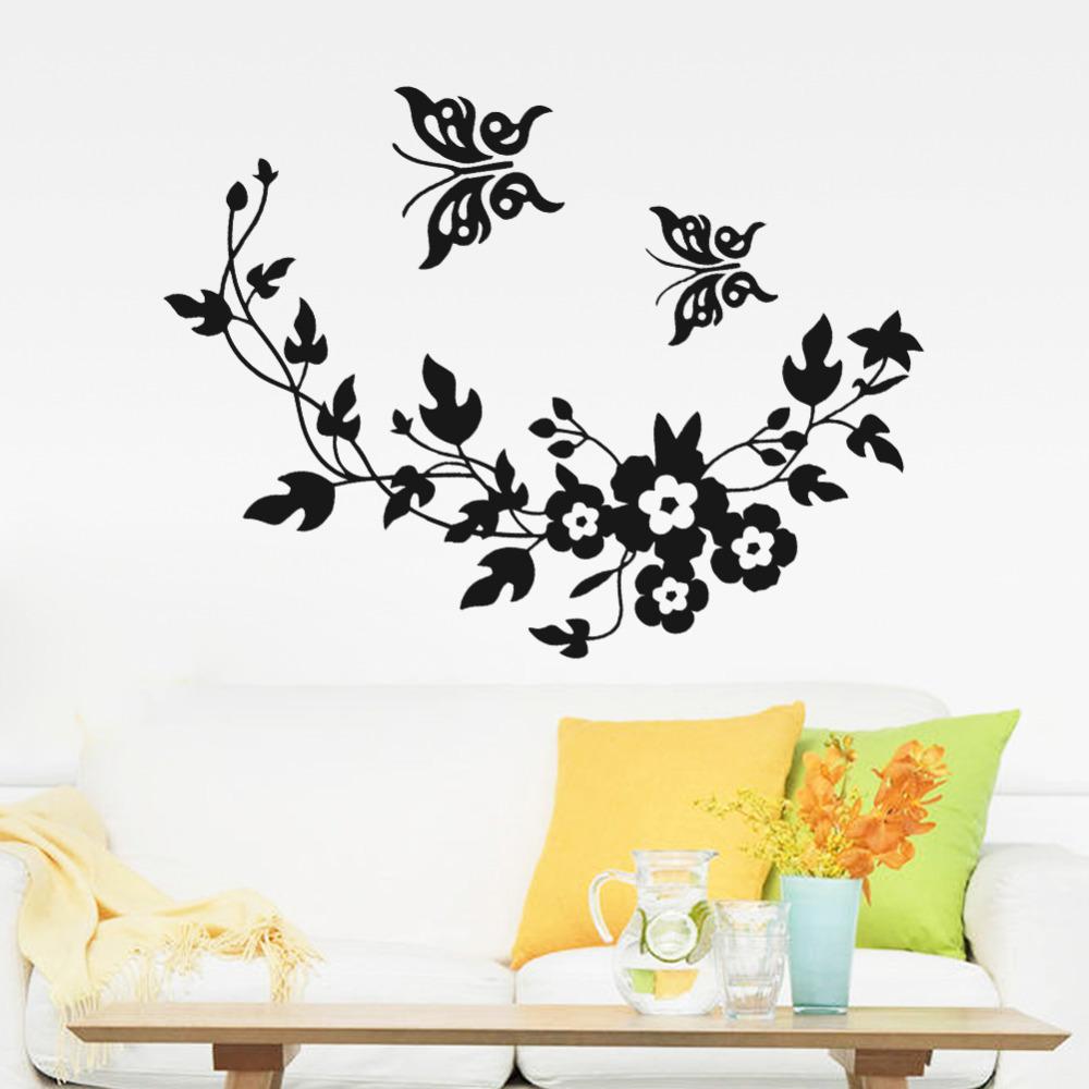 wall stickers flowers butterflies photo - 4