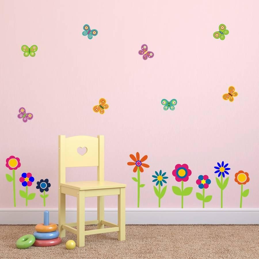 wall stickers flowers butterflies photo - 5
